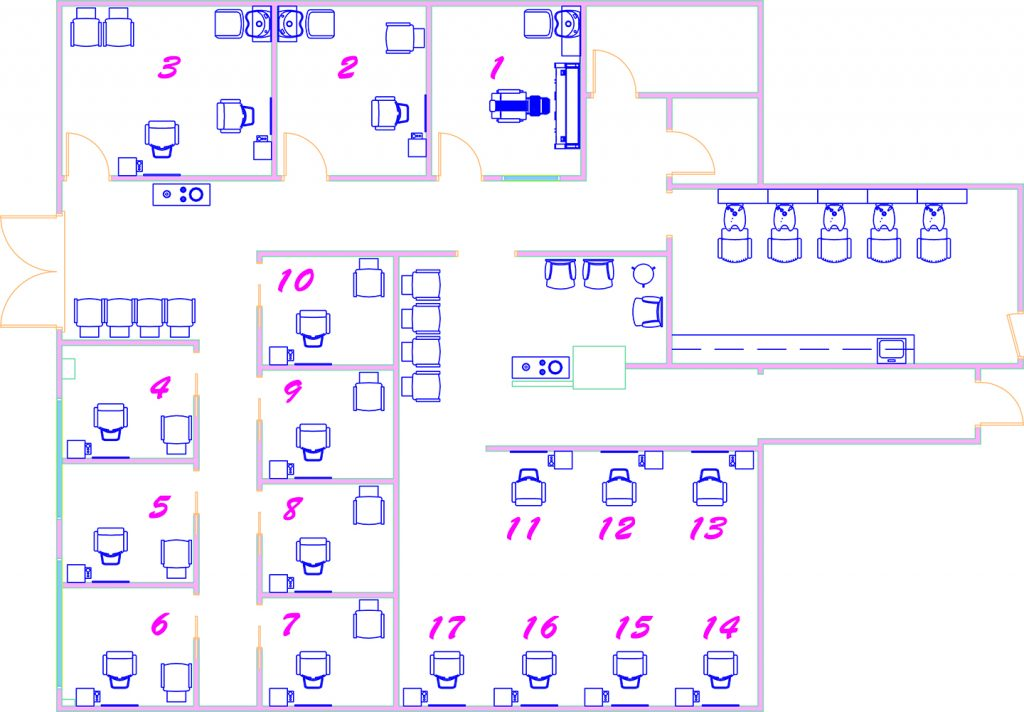 Magenta Salons & Suites layout in a larger view.